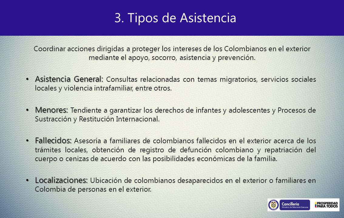 Asistencia General: Asistencia General: Consultas relacionadas con temas migratorios, servicios sociales locales y violencia intrafamiliar, entre otro