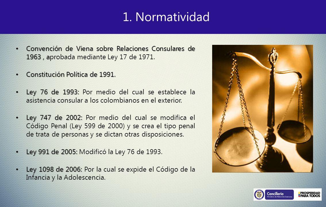 Convención de Viena sobre Relaciones Consulares de 1963, a Convención de Viena sobre Relaciones Consulares de 1963, aprobada mediante Ley 17 de 1971.