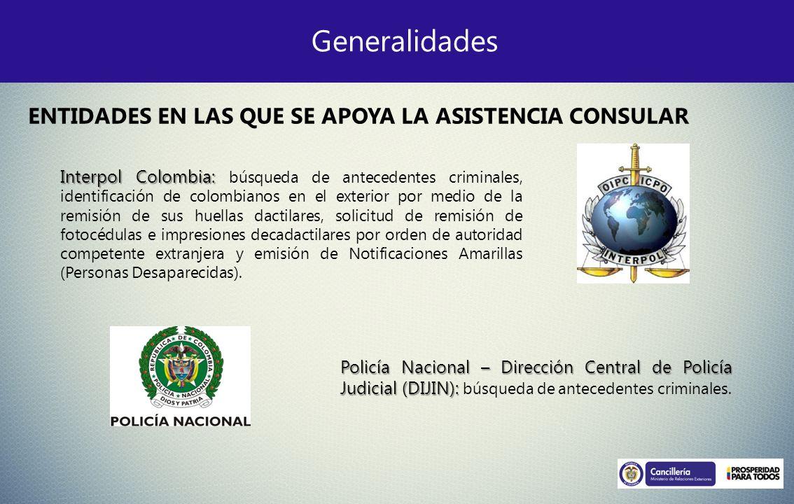 Generalidades Interpol Colombia: Interpol Colombia: búsqueda de antecedentes criminales, identificación de colombianos en el exterior por medio de la