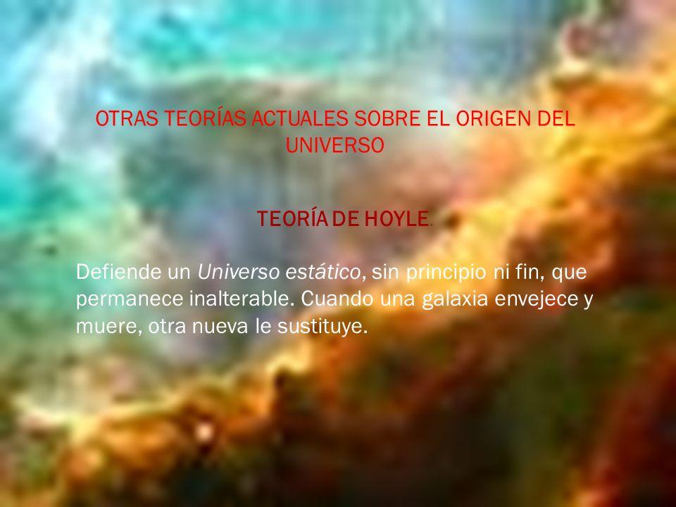 OTRAS TEORÍAS ACTUALES SOBRE EL ORIGEN DEL UNIVERSO TEORÍA DE HOYLE.
