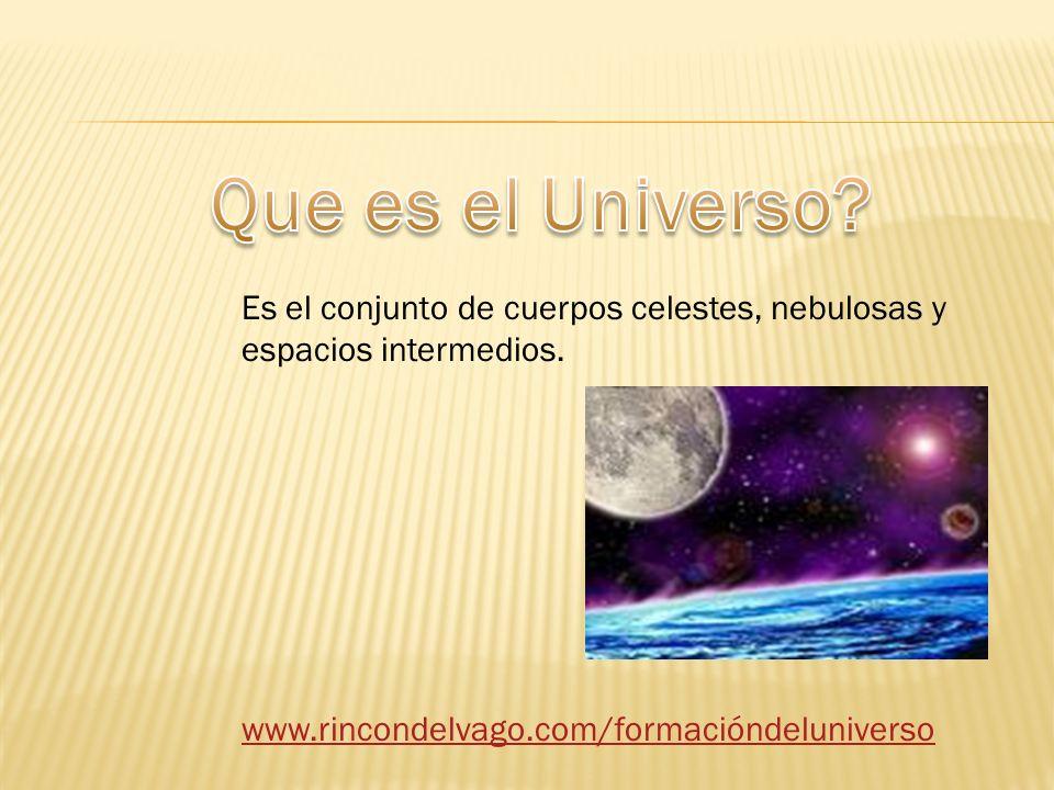 Es el conjunto de cuerpos celestes, nebulosas y espacios intermedios.