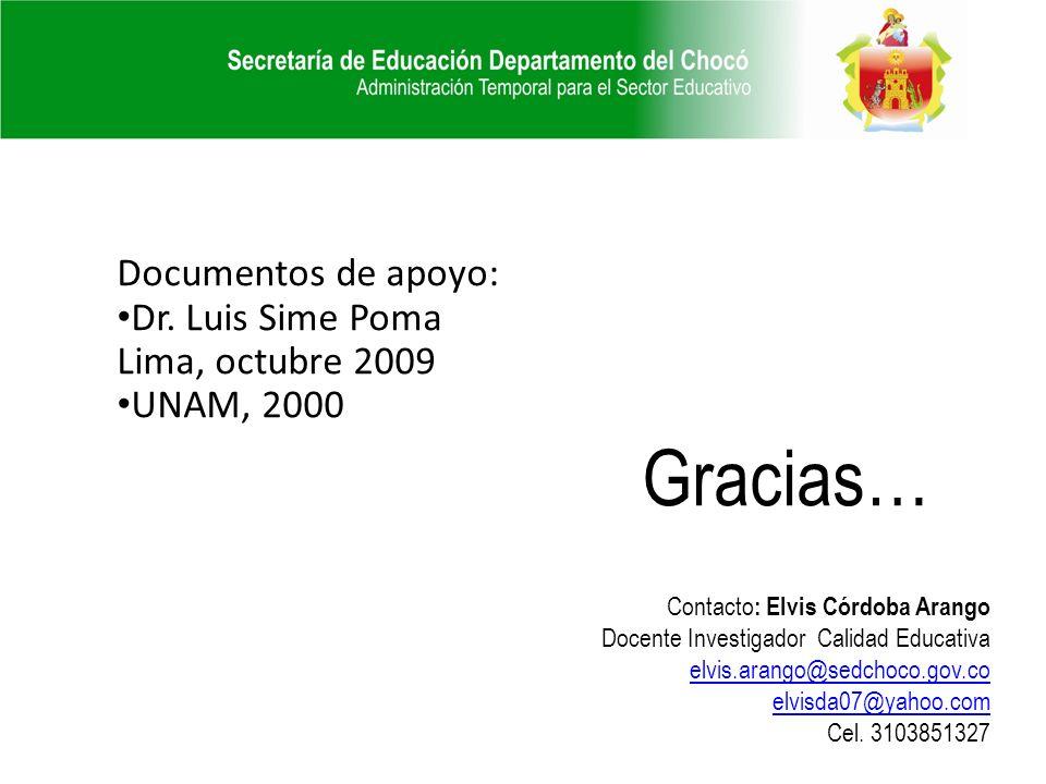 Documentos de apoyo: Dr.