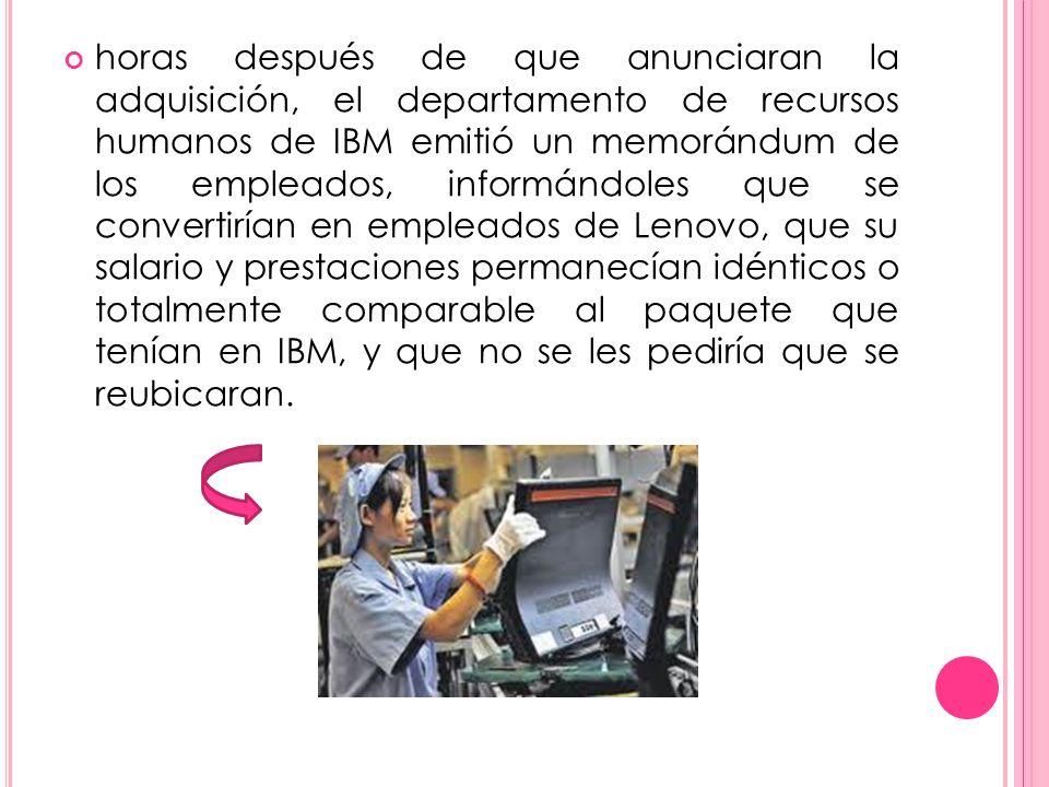 horas después de que anunciaran la adquisición, el departamento de recursos humanos de IBM emitió un memorándum de los empleados, informándoles que se