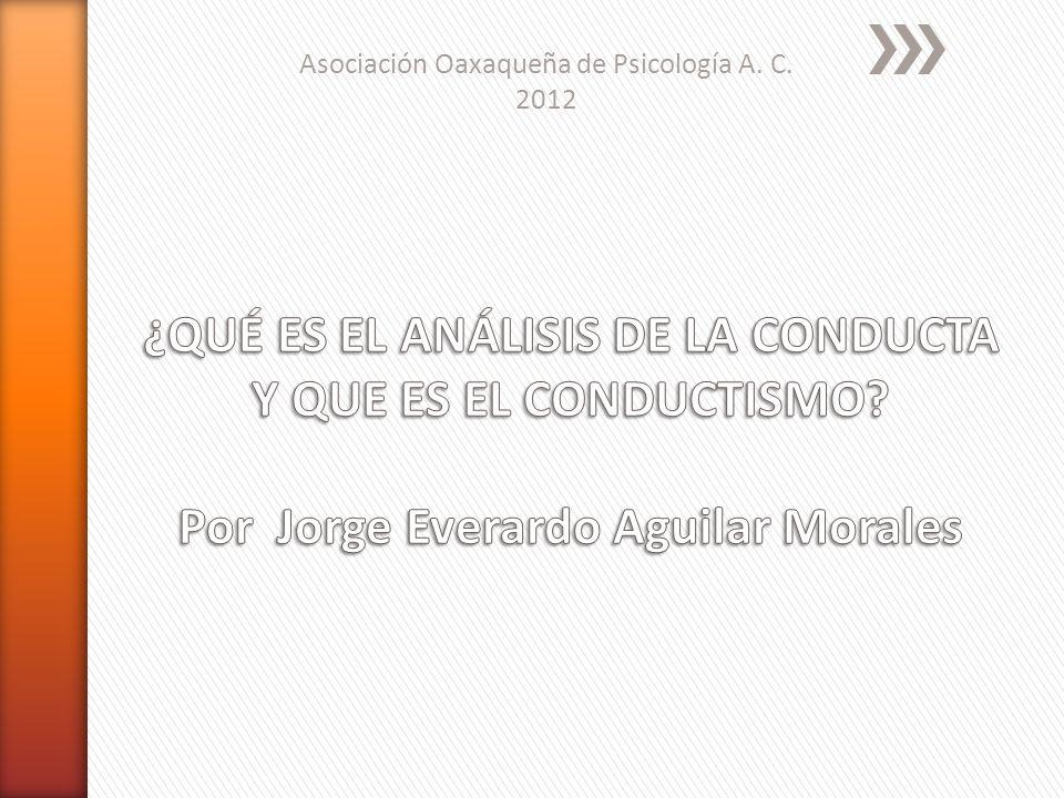 Asociación Oaxaqueña de Psicología A. C. 2012