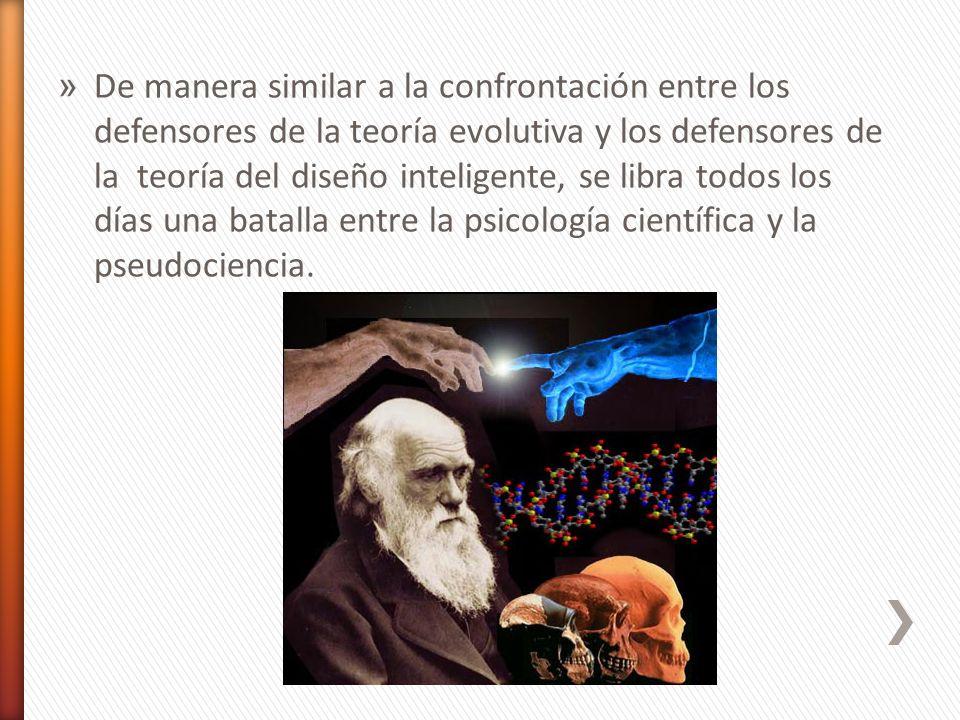 » De manera similar a la confrontación entre los defensores de la teoría evolutiva y los defensores de la teoría del diseño inteligente, se libra todo