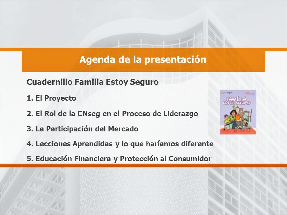 Agenda de la presentación Cuadernillo Familia Estoy Seguro 1.