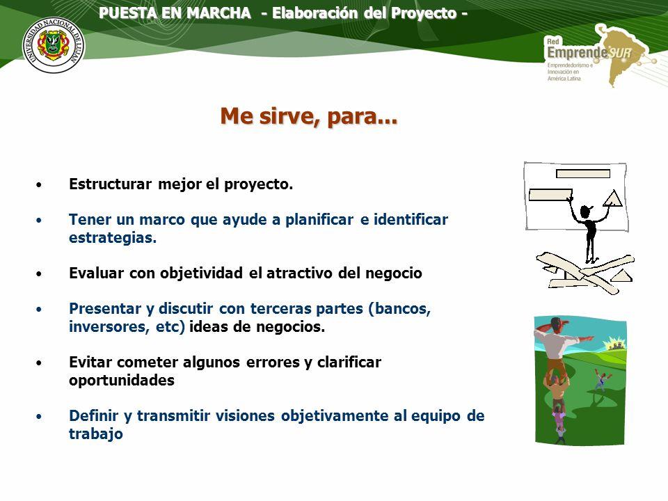 Elaboración del Proyecto : Planeamiento estrategico (strategic planning)o Conciencia estratégica.