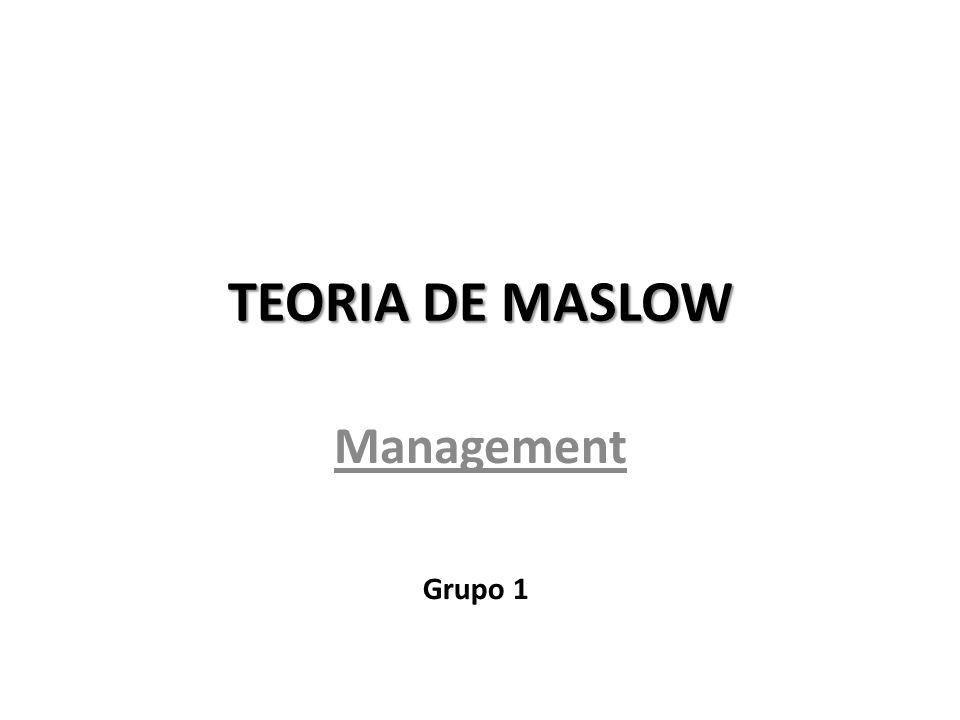 TEORIA DE MASLOW Management Grupo 1