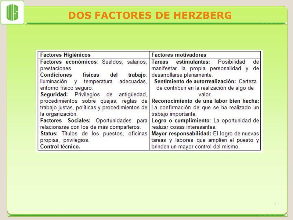 DOS FACTORES DE HERZBERG 11