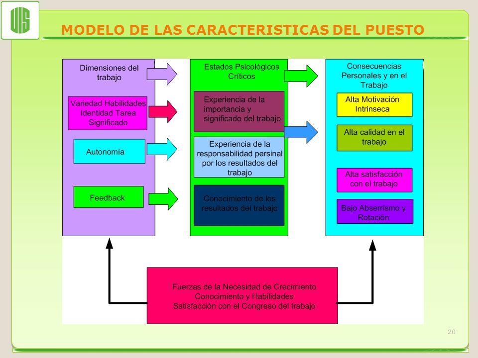 MODELO DE LAS CARACTERISTICAS DEL PUESTO 20