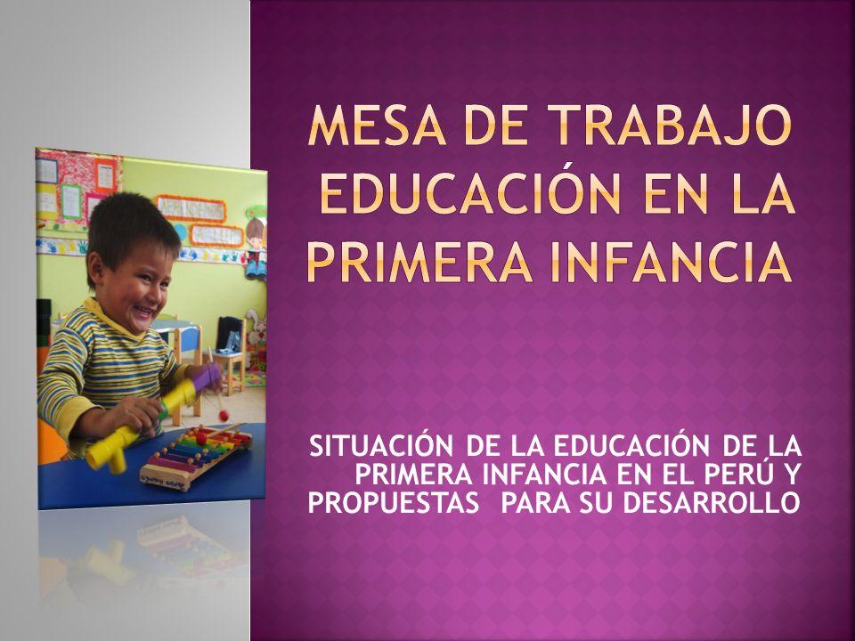 SITUACIÓN DE LA EDUCACIÓN DE LA PRIMERA INFANCIA EN EL PERÚ Y PROPUESTAS PARA SU DESARROLLO