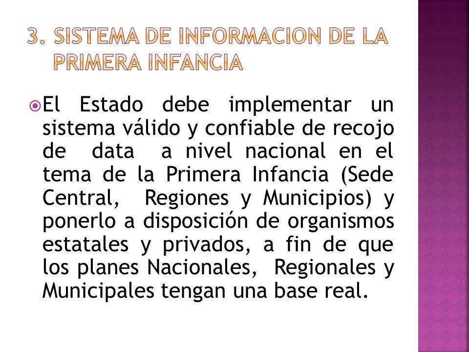 El Estado debe implementar un sistema válido y confiable de recojo de data a nivel nacional en el tema de la Primera Infancia (Sede Central, Regiones