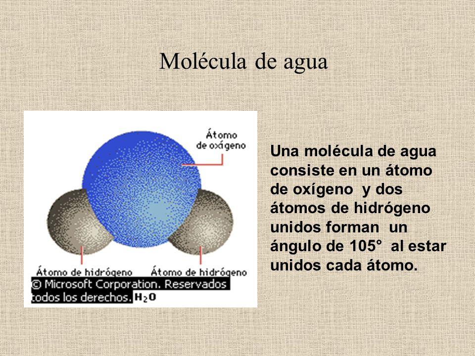 Agua, sustancia líquida formada por la combinación de dos volúmenes de hidrógeno y un volumen de oxígeno, que constituye el componente más abundante e