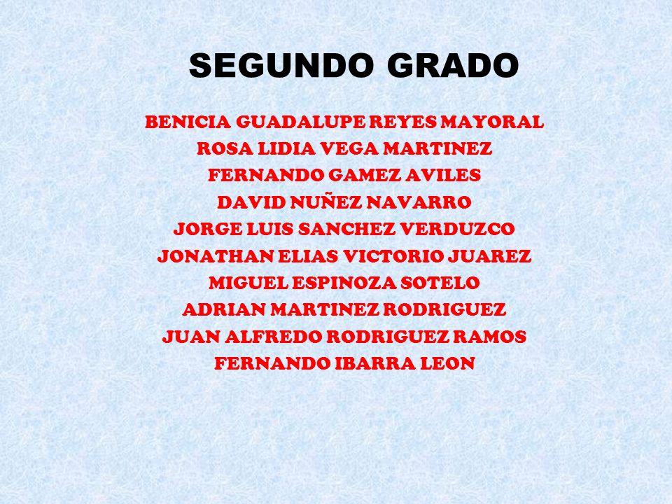 ALUMNOS COLABORADORES PRIMER GRADO MARIA EDITH FERNANDEZ SANTAMARIA FRANCISCO SANCHEZ PAUL HIDALGO NAVARRO OSCAR ANTONIO CASTILLON GORDIAN IRASEMA MAR