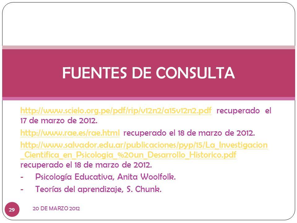 http://www.scielo.org.pe/pdf/rip/v12n2/a15v12n2.pdfhttp://www.scielo.org.pe/pdf/rip/v12n2/a15v12n2.pdf recuperado el 17 de marzo de 2012. http://www.r