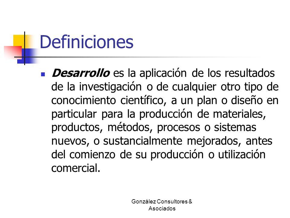 Definiciones Desarrollo es la aplicación de los resultados de la investigación o de cualquier otro tipo de conocimiento científico, a un plan o diseño