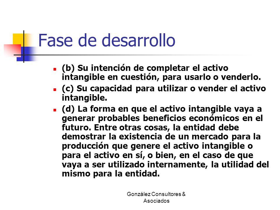 Fase de desarrollo (b) Su intención de completar el activo intangible en cuestión, para usarlo o venderlo. (c) Su capacidad para utilizar o vender el
