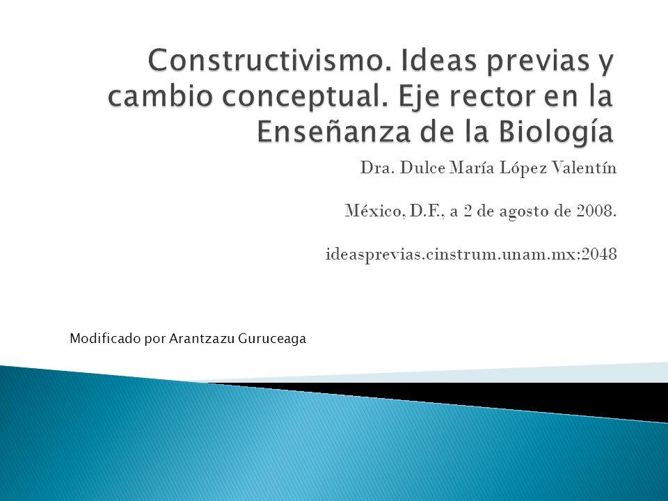 Dra. Dulce María López Valentín México, D.F., a 2 de agosto de 2008. ideasprevias.cinstrum.unam.mx:2048 Modificado por Arantzazu Guruceaga