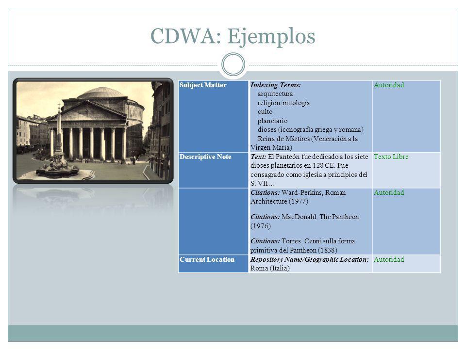 Object-ID Versión reducida del CDWA.