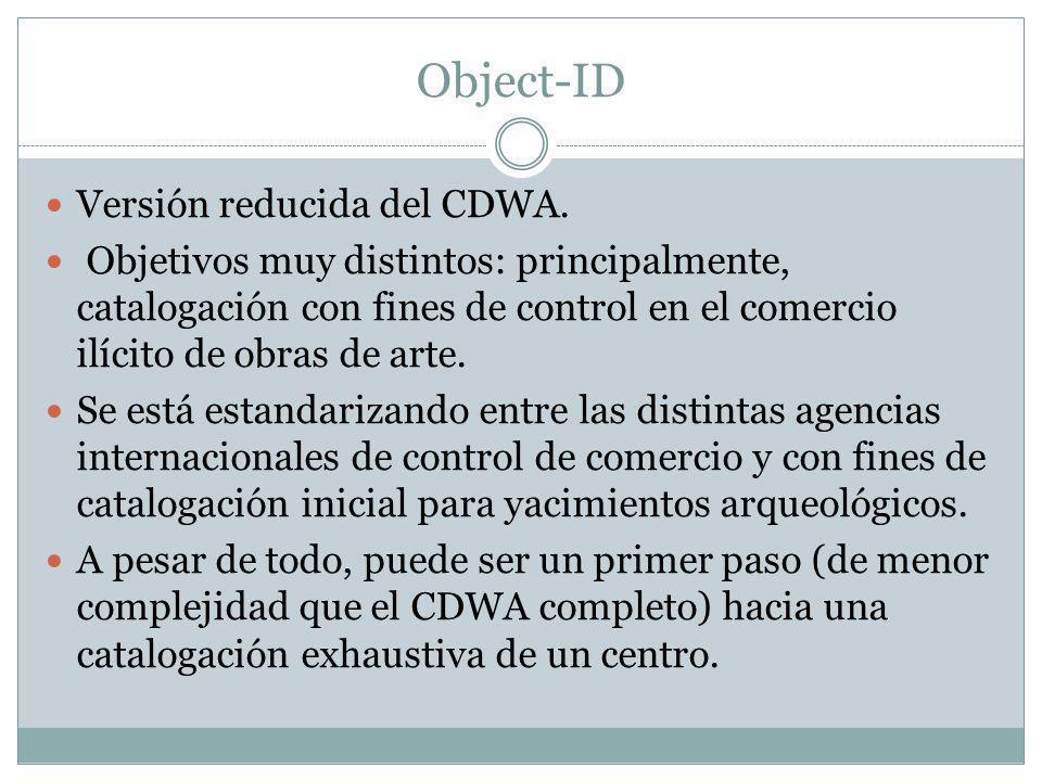 VRA Core 4.0 Desarrollado por Visual Resources Association s Data Standards Committee.