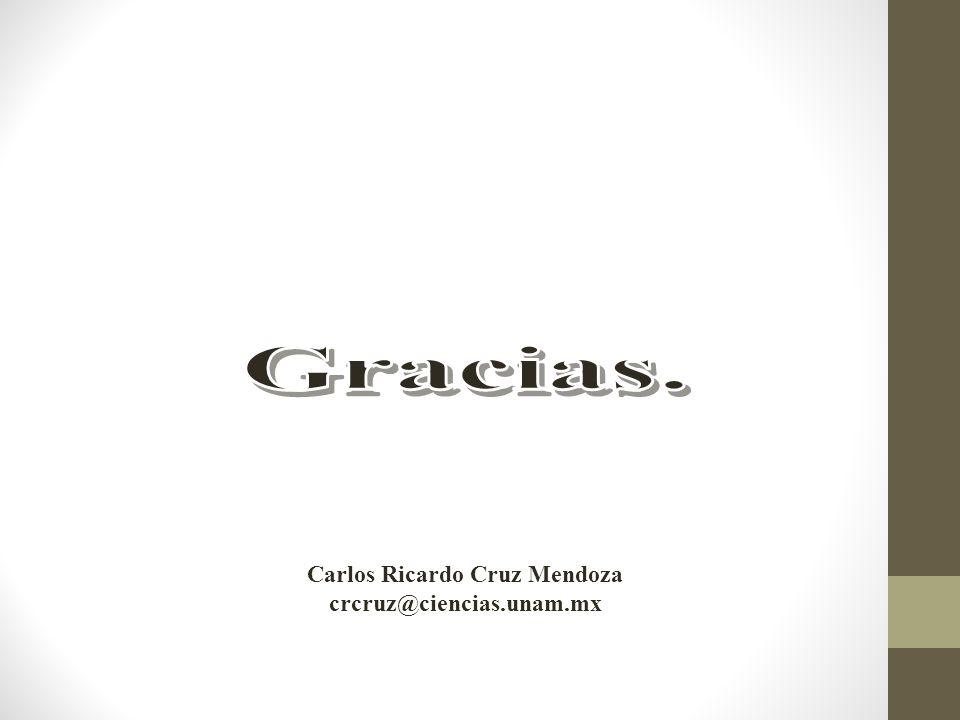 Carlos Ricardo Cruz Mendoza crcruz@ciencias.unam.mx