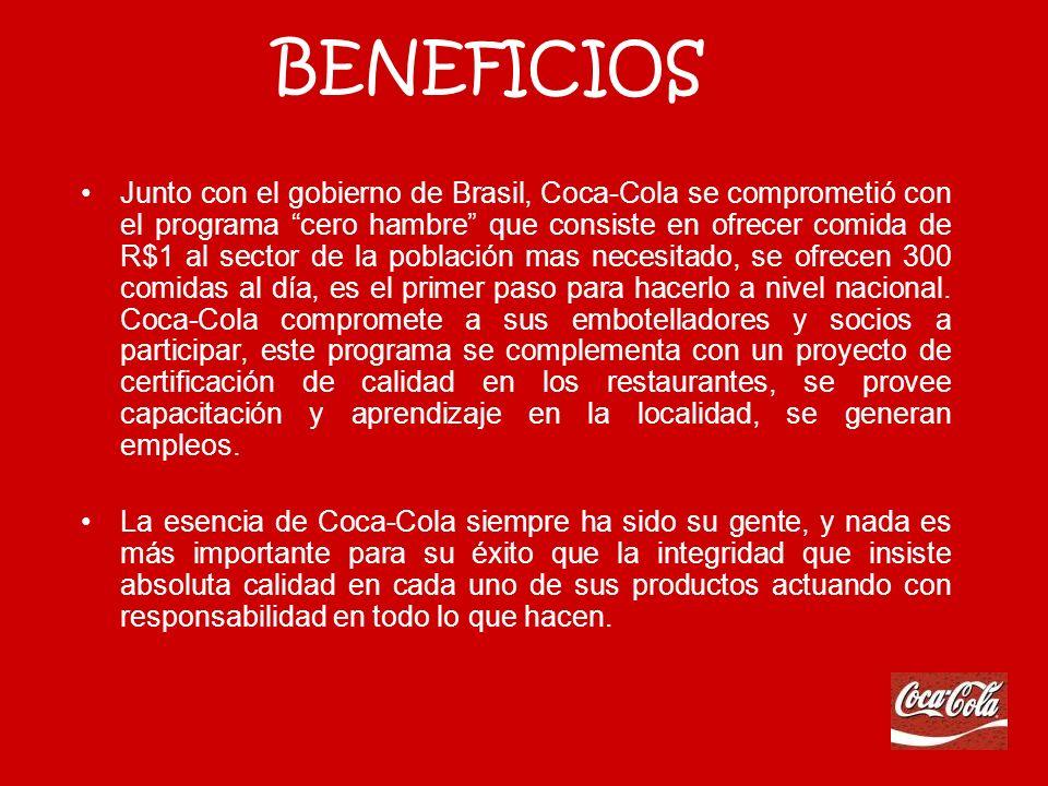 1. Fomentar el crecimiento de soft-drinks para aumentar el mercado de otras marcas de Coca-Cola. 2. Seleccionar cuidadosamente la familia de bebidas q