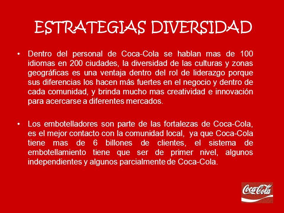 COMPROMISO CON CALIDAD Siempre busca mantener los más altos estándares de calidad en los productos, procesos y relaciones, no se admiten estándares que se mantengan estáticos, Coca-Cola mantiene un sistema de calidad que le permite siempre elevar esos estándares.