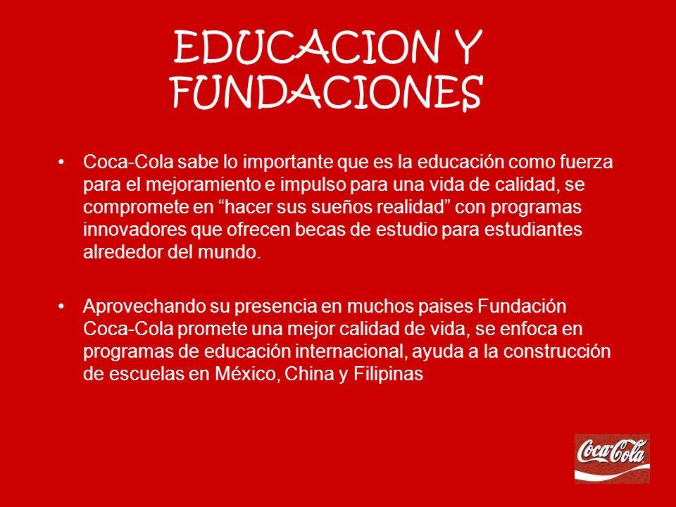 EQUIPO DE SALUD Coca-Cola trabaja con organizaciones que apoyan la buena salud y ejercicio. Como La Coalición por una América Sana y Activa que educa