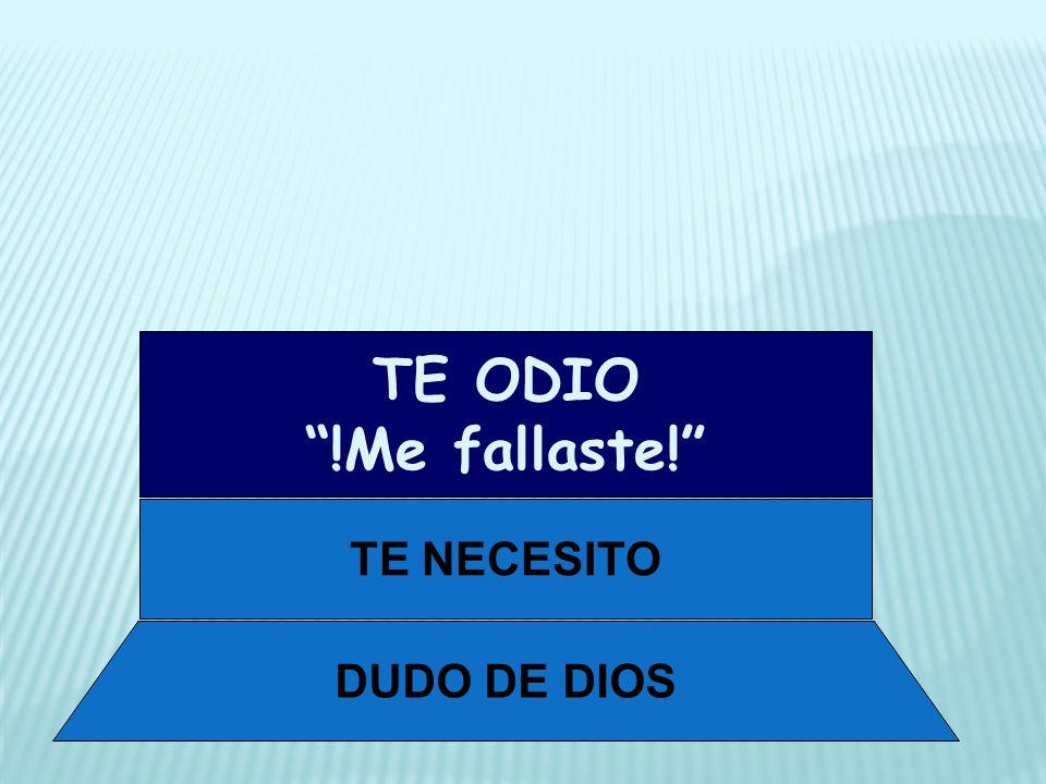 DUDO DE DIOS TE NECESITO TE ODIO !Me fallaste!