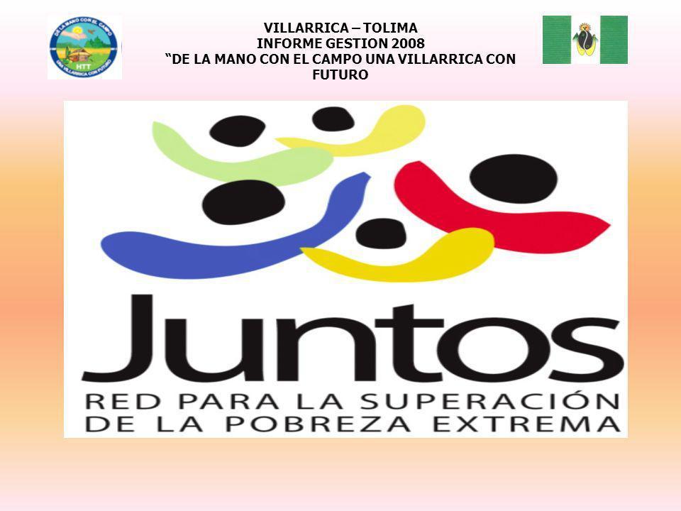 VILLARRICA – TOLIMA INFORME GESTION 2008 DE LA MANO CON EL CAMPO UNA VILLARRICA CON FUTURO
