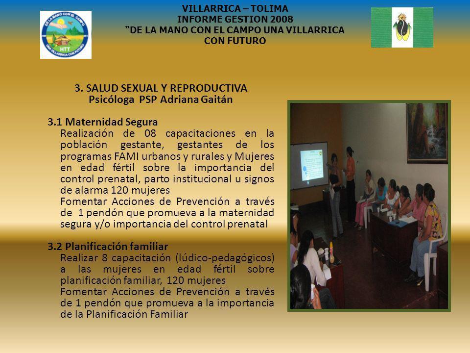 SISBEN III VILLARRICA – TOLIMA INFORME GESTION 2008 DE LA MANO CON EL CAMPO UNA VILLARRICA CON FUTURO ACTIVIDADES EL MUNICIPIO DE VILLARRICA TOLIMA.