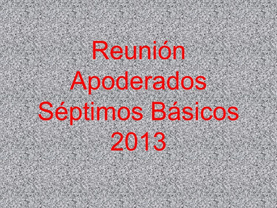Reunión Apoderados Séptimos Básicos 2013