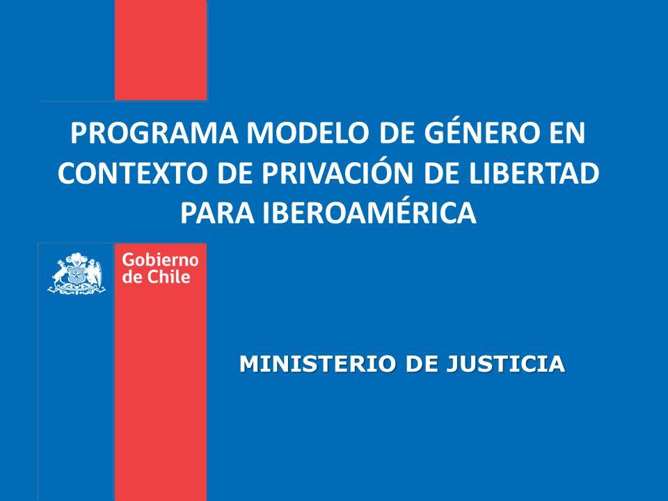 PROGRAMA MODELO DE GÉNERO EN CONTEXTO DE PRIVACIÓN DE LIBERTAD PARA IBEROAMÉRICA MINISTERIO DE JUSTICIA