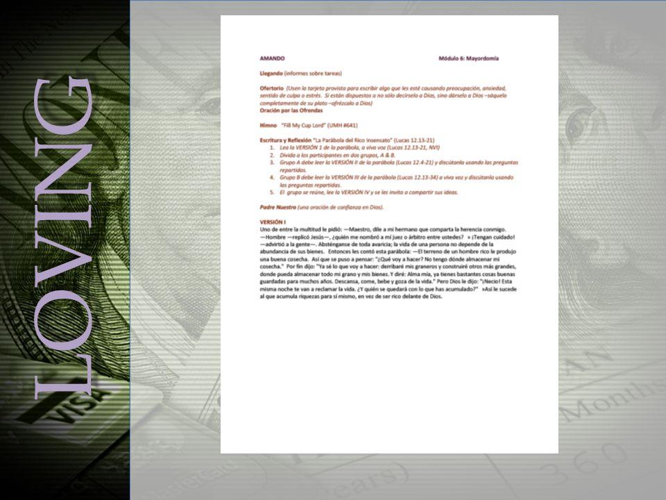 Mayordomía: significado amplio Mayordomía: significado amplio – Ambiental – Recursos humanos (liderazgo) – D.M.C.: Mayordomo de Visión ) ¶608 – Más…todas las buenas aplicaciones Mi Enfoque: Dando & Generosidad Mi Enfoque: Dando & Generosidad Alcance APRENDIENDO