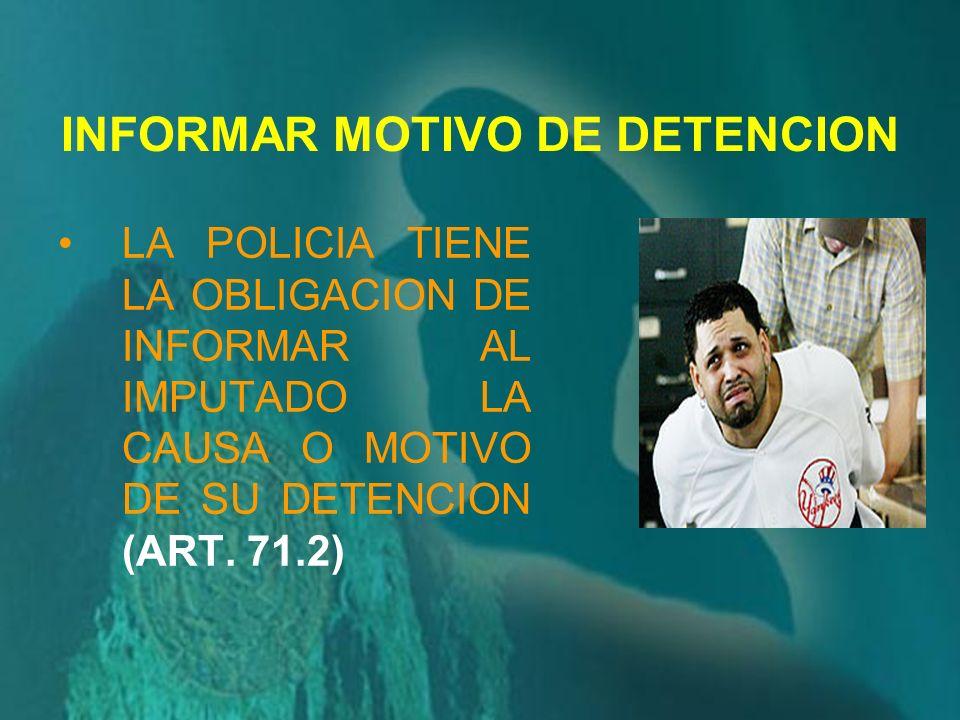 POR SU PARTE, EL ARTICULO 67º, INCISO 1º DEL NUEVO CPP PREVEE QUE: LA POLICÍA NACIONAL EN SU FUNCIÓN DE INVESTIGACIÓN DEBE, INCLUSIVE POR PROPIA INICI