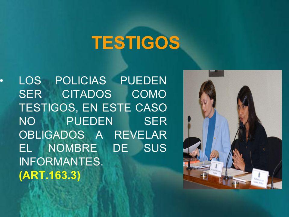 INFORMAR MOTIVO DE DETENCION LA POLICIA TIENE LA OBLIGACION DE INFORMAR AL IMPUTADO LA CAUSA O MOTIVO DE SU DETENCION (ART. 71.2)