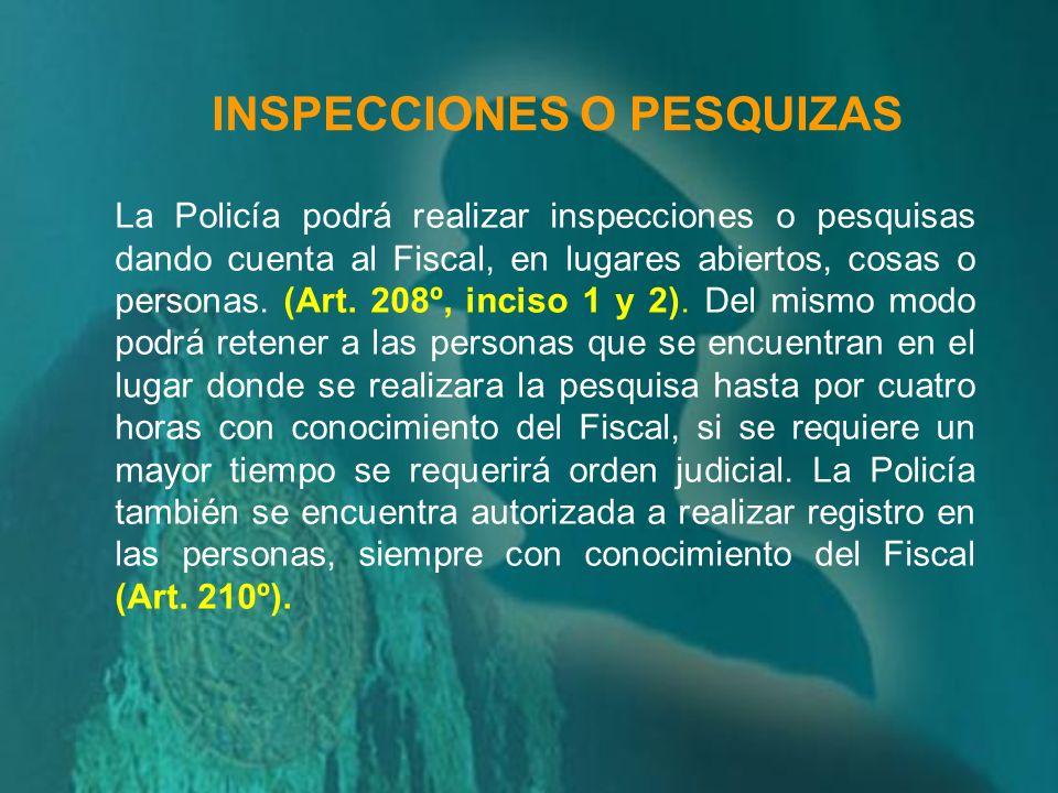 La Policía también se encuentra autorizada previa autorización del Ministerio Público o del Juez según el caso, a realizar tomas fotográficas y regist