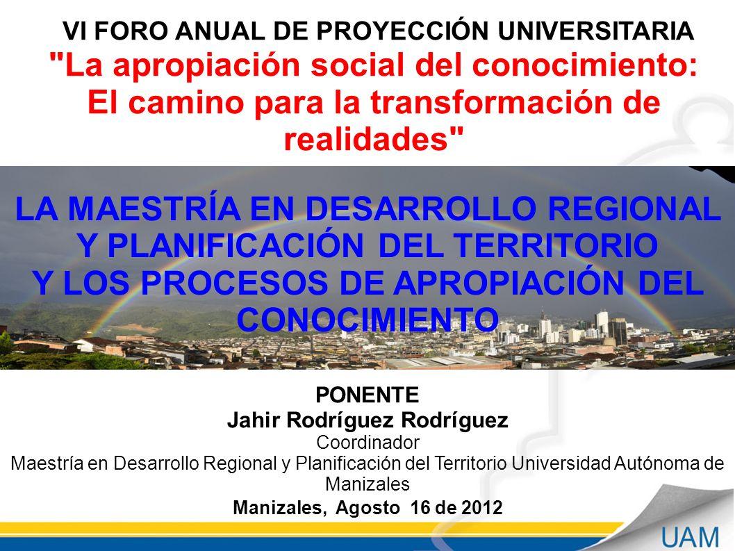 VI FORO ANUAL DE PROYECCIÓN UNIVERSITARIA