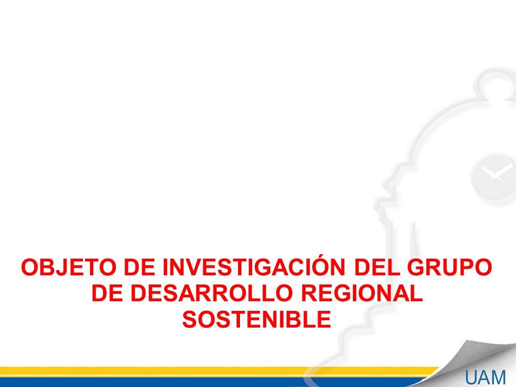 OBJETO DE INVESTIGACIÓN DEL GRUPO DE DESARROLLO REGIONAL SOSTENIBLE