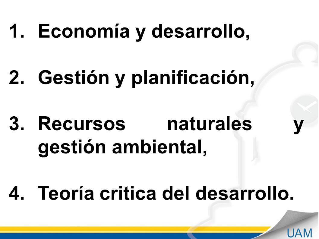 UNIVERSIDAD AUTÓNOMA DE MANIZALES DIRECCIÓN ACADÉMICA Septiembre - 2011 1.Economía y desarrollo, 2.Gestión y planificación, 3.Recursos naturales y ges