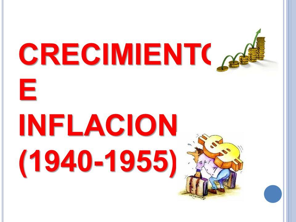 CRECIMIENTO E INFLACION (1940-1955)