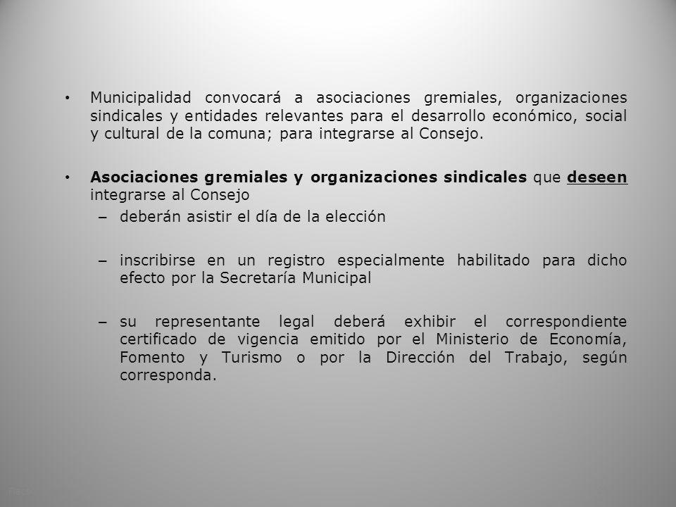 Municipalidad convocará a asociaciones gremiales, organizaciones sindicales y entidades relevantes para el desarrollo económico, social y cultural de