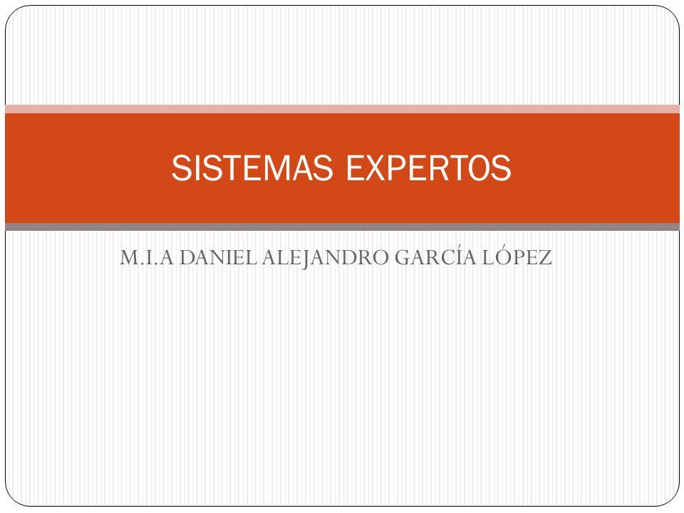 M.I.A DANIEL ALEJANDRO GARCÍA LÓPEZ SISTEMAS EXPERTOS
