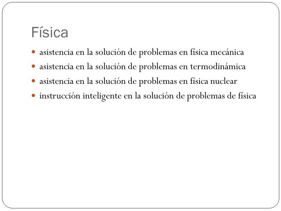 Física asistencia en la solución de problemas en física mecánica asistencia en la solución de problemas en termodinámica asistencia en la solución de