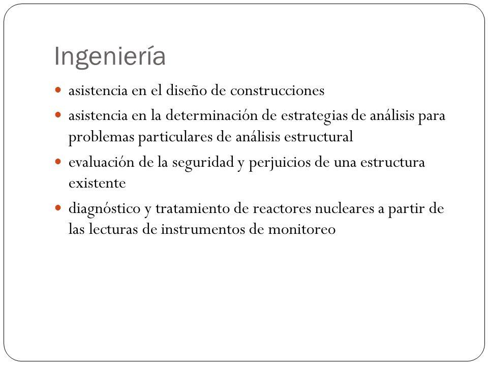 Ingeniería asistencia en el diseño de construcciones asistencia en la determinación de estrategias de análisis para problemas particulares de análisis