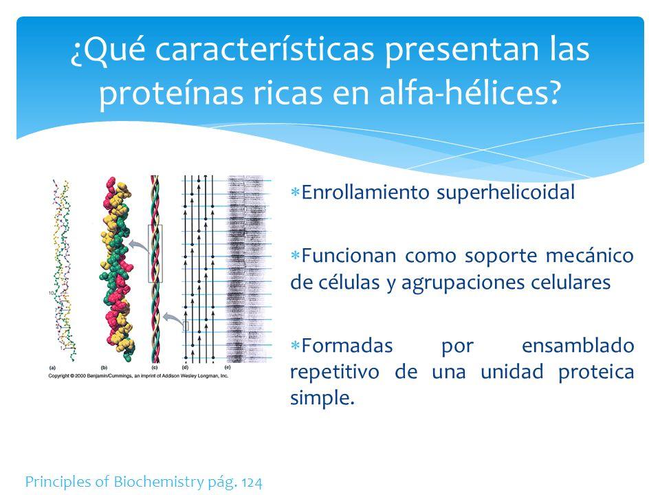 Enrollamiento superhelicoidal Funcionan como soporte mecánico de células y agrupaciones celulares Formadas por ensamblado repetitivo de una unidad pro