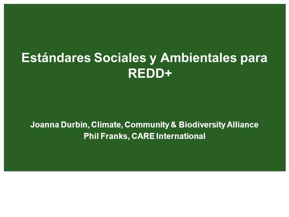 Estándares Sociales y Ambientales REDD+ ¿Qué son.