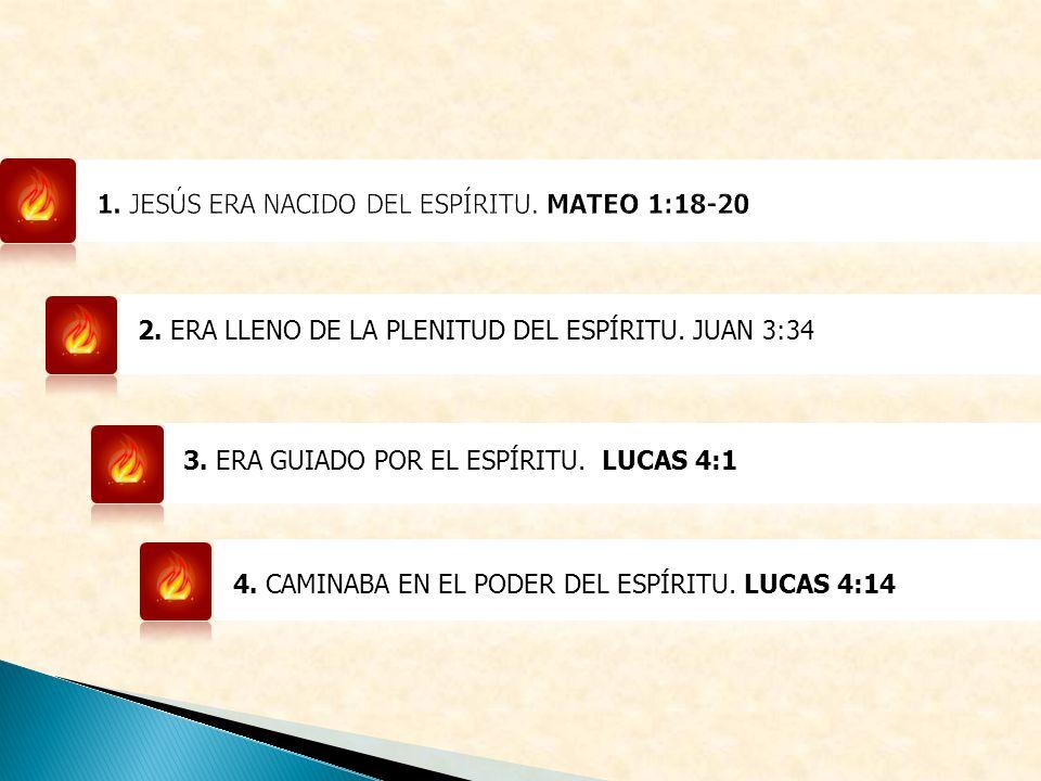 2.ERA LLENO DE LA PLENITUD DEL ESPÍRITU. JUAN 3:34 3.