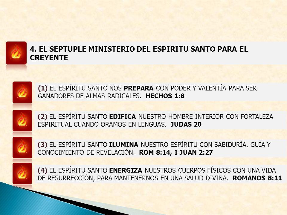 4. EL SEPTUPLE MINISTERIO DEL ESPIRITU SANTO PARA EL CREYENTE (1) EL ESPÍRITU SANTO NOS PREPARA CON PODER Y VALENTÍA PARA SER GANADORES DE ALMAS RADIC