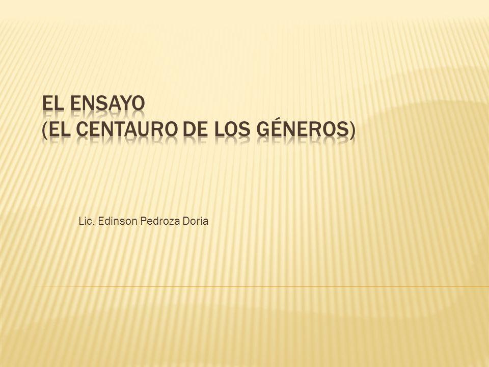 Lic. Edinson Pedroza Doria